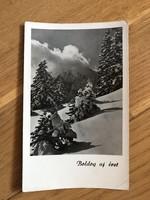 Havas tájkép képeslap - 1954