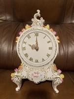 Hollóházi porcelán kandalló óra