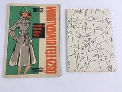 Őszi-téli divatalbum szabásminta melléklettel 1975-76., retro divatlap