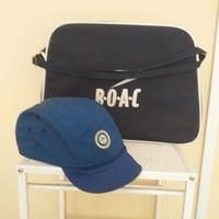 Régi repülős táska és sapka