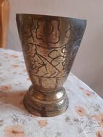 Antik keleti réz kehely (pohár)