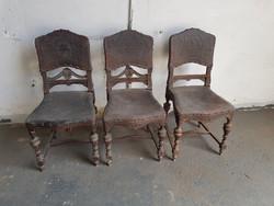 Ónémet szék díszes bőr borítással,székek