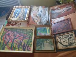 13db festmény egyben eladó