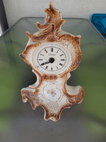 Sitzendorf barokk porcelán kandalló óra