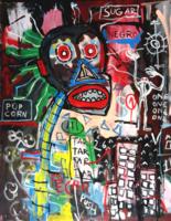 Jean Michel Basquiat eredeti alkotása eredetigazolással - leárazáskor nincs felező ajánlat!