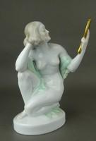 1F598 Herendi porcelán akt fésülködő nő