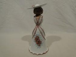 0363 Kerámia kalapos hölgy Borsodi Zsuzsa