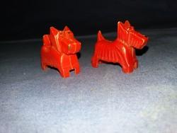 Régi  papírboltos kutyusos ceruzahegyező pár egyben a képek szerint