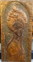 Bronz falikép