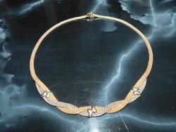 Kétszínű  Arany 14k nöi nyakék    16.2 gr
