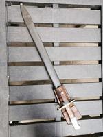 Svájci M14 fűrészes bajonet tokkal, papuccsal