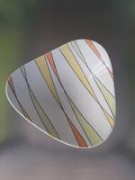 Rare collectible retro wallendorf design striped decorative plate