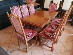 Étkező asztal 8 székkel eladó