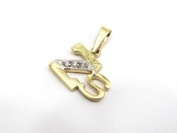Arany Zs betű medál (Kecs-89523)