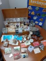50 db-os ásvány és kőzet gyűjtemény egyben