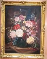 Flower still life- d.Benczúr with ida sign 60x80