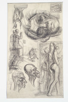 Armand Schönberger (1885-1974): Rajztanulmányok