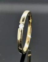 Gyèmánt  drágaköves  sterling ezüst gyűrű 14K aranyozással  925/ - új