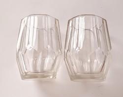 Antik bieder üveg pohár 9cm 2db/db