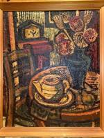 Mustó János - Csendélet kávéskannával