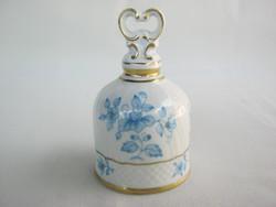 Hollóházi porcelán kézzel festett csengő harang