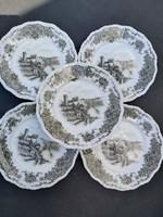 Bavaria fodros szélű jelenetes sütis tányérok 19 cm