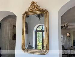Felépítményes eredeti Biedermeier tükör 120x70cm