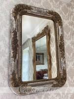 Antik biedermeier tükör eredeti ezüstözéssel