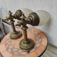 Csodálatos bronz fali karok pàrban, fali làmpakülönleges nehéz súlyú bronz öntvény!