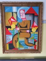 Hatalmas meretű olaj vaszon festmény eladó