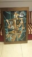 Nagymeretű absztrakt festmény eladó
