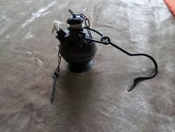 Antik bronz lámpa