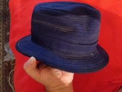 Antik nemez férfikalap sötétkék színben kék selyem szalaggal  képek szerint