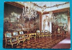 Ausztria,Schönbrunni kastély egyik terme,postatiszta képeslap