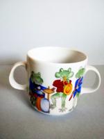 Alföldi nagyon ritka mesemintás kétfülű csésze, bögre