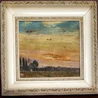 Gulácsy Lajos (1882-1932) - Nyári naplemente olajfestmény