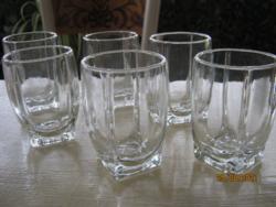 6 régi üveg pohár 1.5 dl