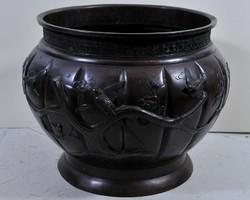 Nagy antik japán bronz váza, Meiji korszak