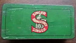ANTIK Singer varrógép (fém) doboz