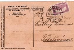 Brichta és Beck szesz, szeszáru-ügynökség és bizományi üzlet Budapest