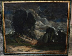 B.Mikli Ferenc  festmény hatalmas 100 x 126 cm