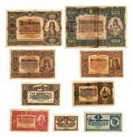 1920. Magyar 10000 korona és társai sorozat