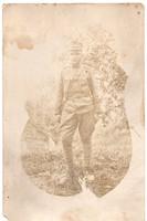 Katona portré kép (gyerek?) Emlék Tirolból