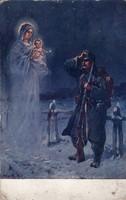 Katonai képeslap Zsidó faluba küldve!