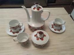 Retró Hollóházi porcelán kávés készlet. Hiánypótlásra.