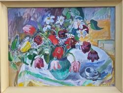Orosz Gellért 1976 / Tulipán csendélet