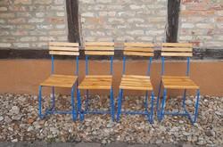 Kerti, retro, csővázas szék