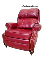 A370 chesterfield resting leather armchair
