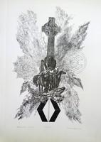Ábrahám Rafael 42x29 cm litográfia művészpéldány