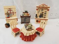 Gyűjtői miniatur babaház kiegészítők